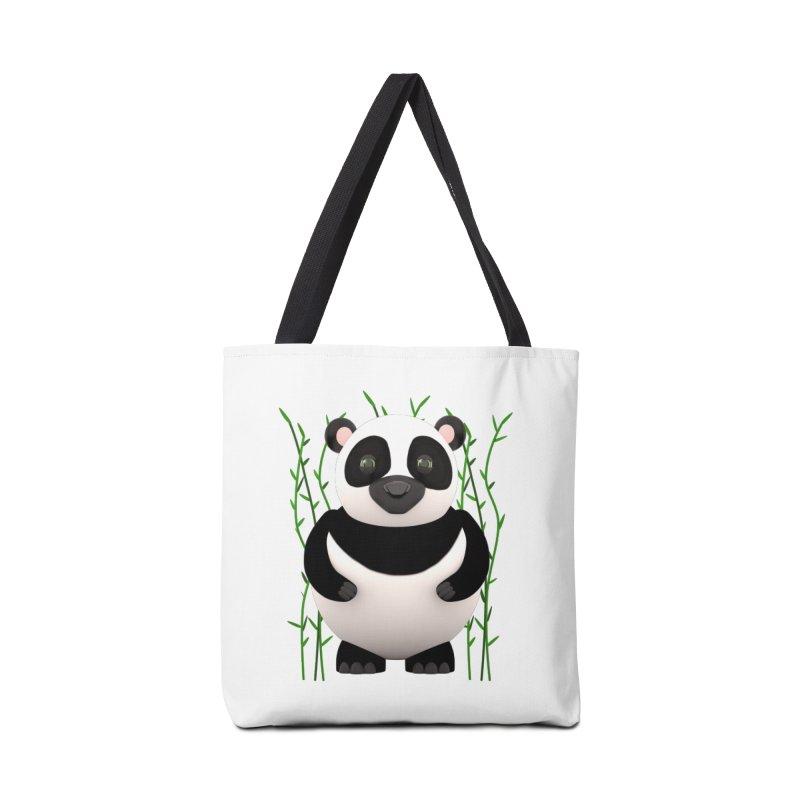 Cartoon Panda Among Bamboos Accessories Bag by Me&My3D