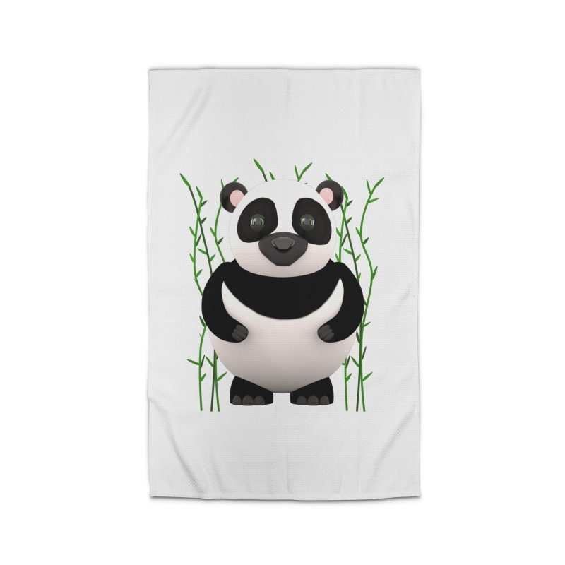 Cartoon Panda Among Bamboos Home Rug by Me&My3D