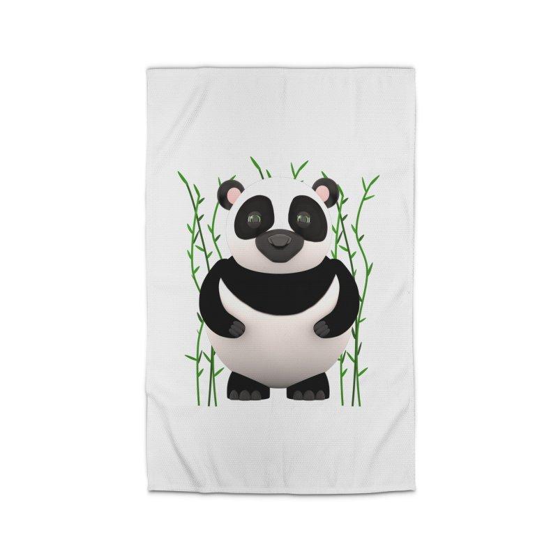 Cartoon Panda Among Bamboos Home Rug by Me&My3D