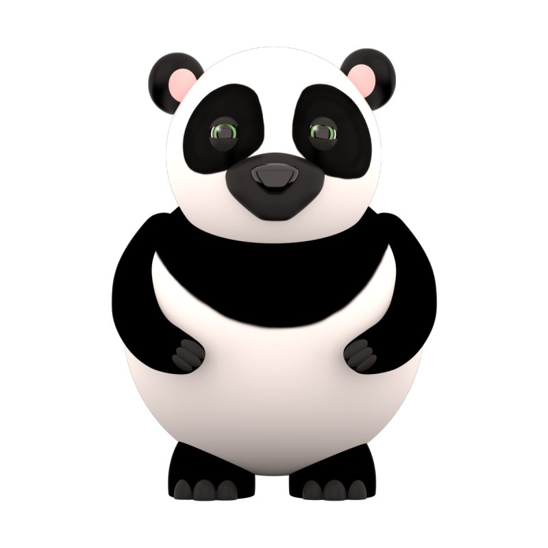 Cartoon Panda Home Stretched Canvas by Me&My3D