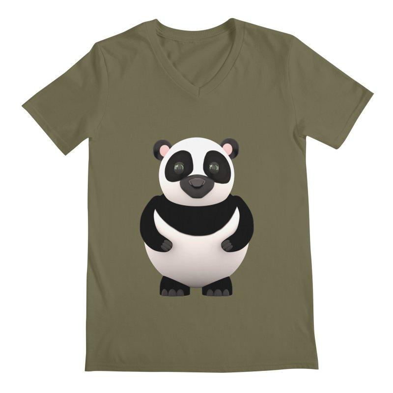 Cartoon Panda Men's V-Neck by Me&My3D
