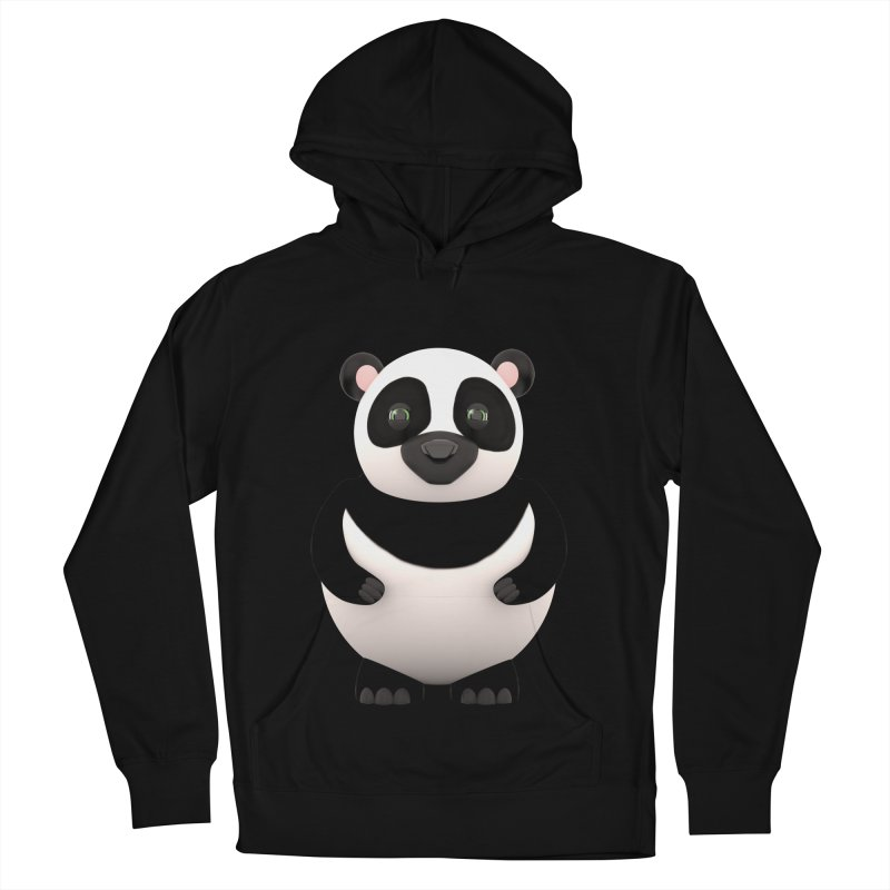 Cartoon Panda Men's French Terry Pullover Hoody by Me&My3D