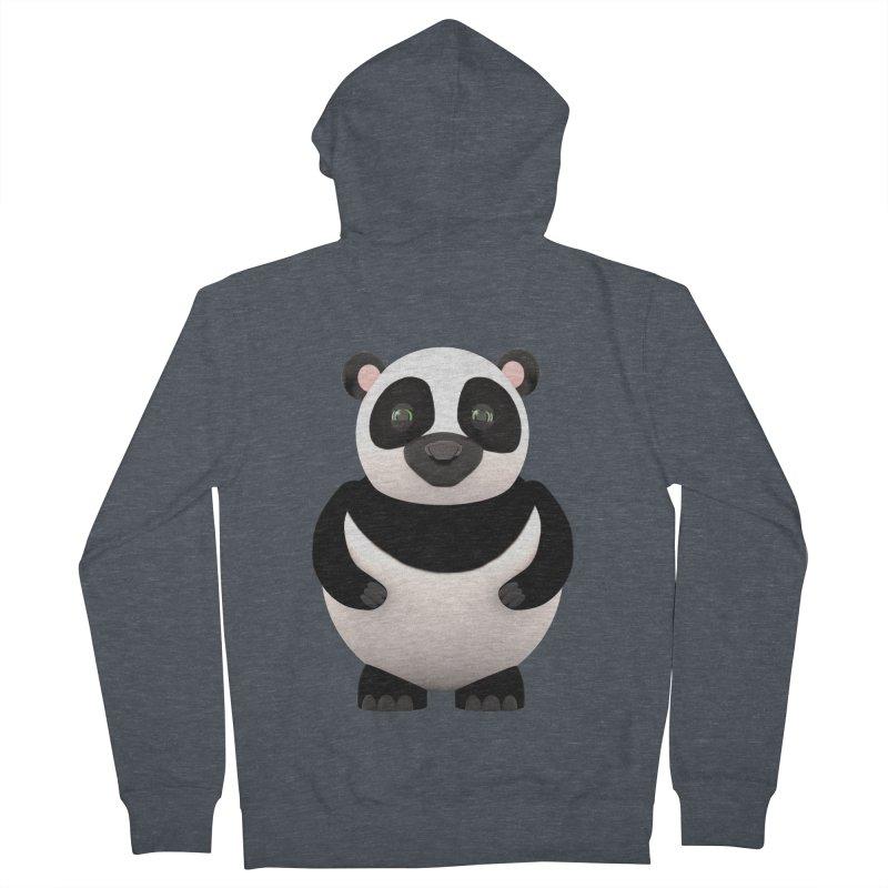 Cartoon Panda Women's Zip-Up Hoody by Me&My3D