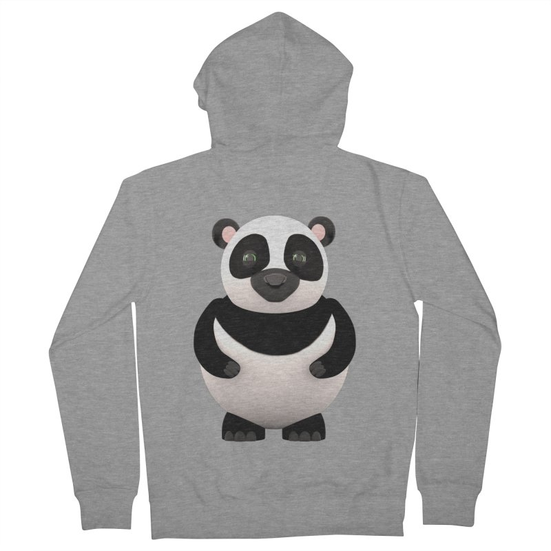 Cartoon Panda Women's Zip-Up Hoody by Me&My3D