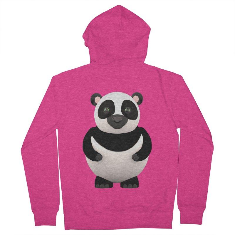Cartoon Panda Women's French Terry Zip-Up Hoody by Me&My3D