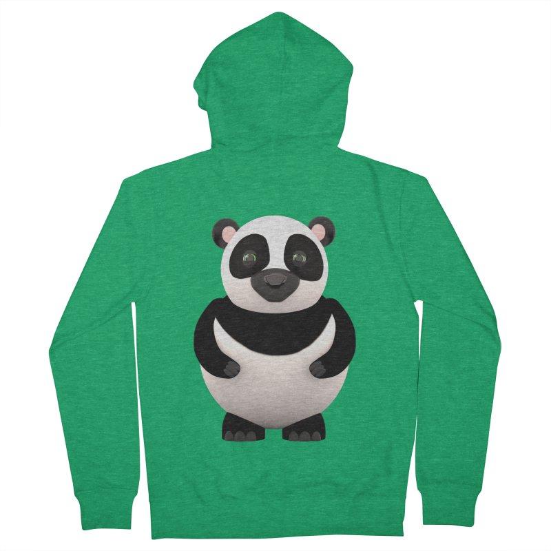 Cartoon Panda Men's Zip-Up Hoody by Me&My3D