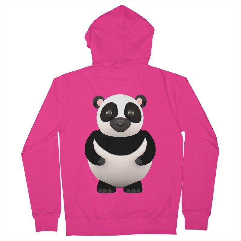Cartoon Panda Men's French Terry Zip-Up Hoody by Me&My3D