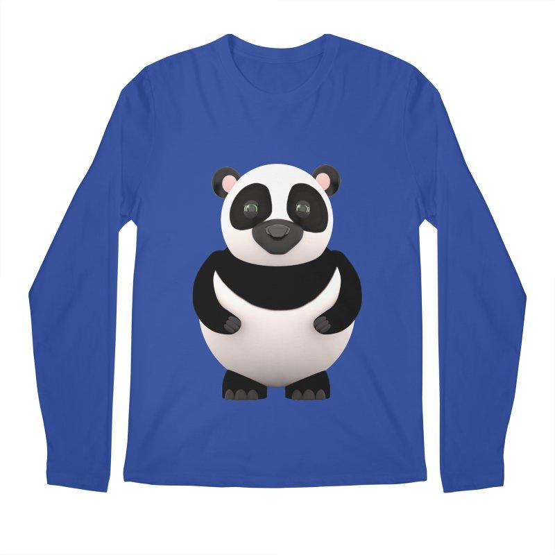 Cartoon Panda Men's Regular Longsleeve T-Shirt by Me&My3D