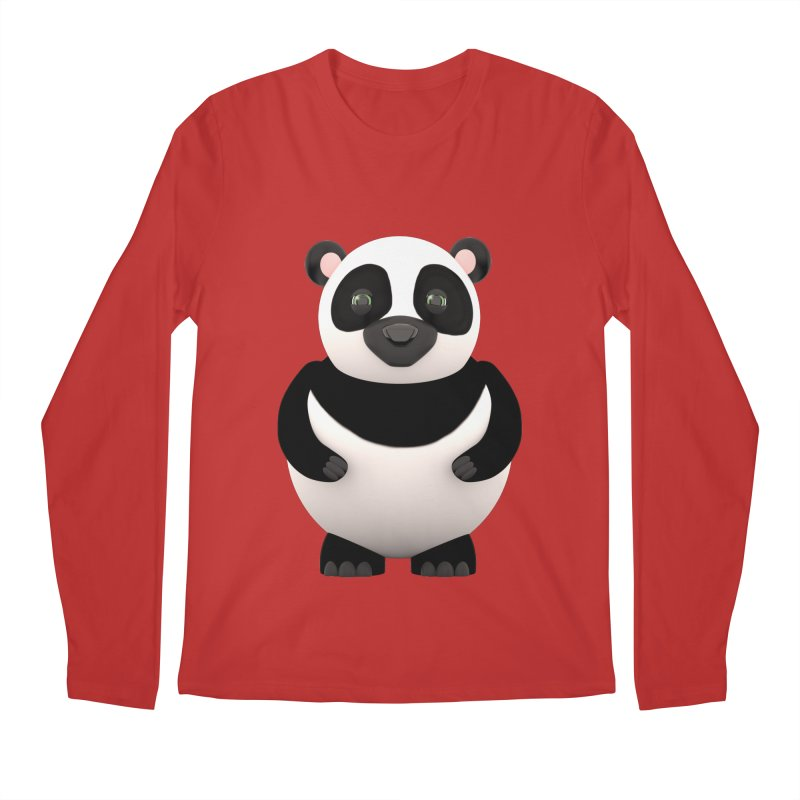 Cartoon Panda Men's Longsleeve T-Shirt by Me&My3D
