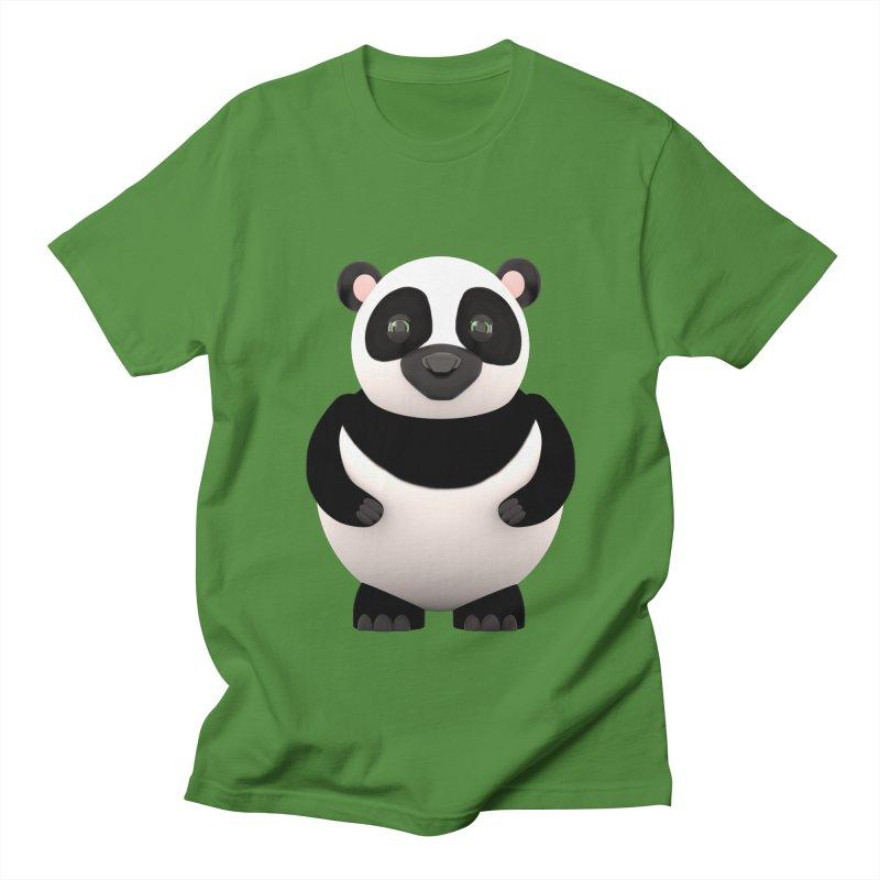 Cartoon Panda Women's Regular Unisex T-Shirt by Me&My3D