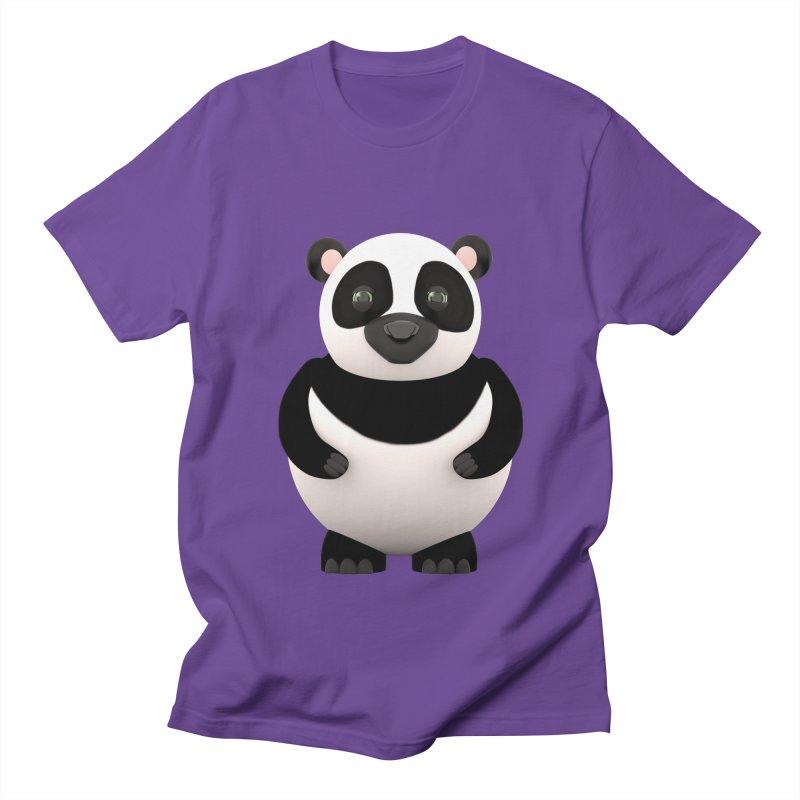Cartoon Panda Women's Unisex T-Shirt by Me&My3D
