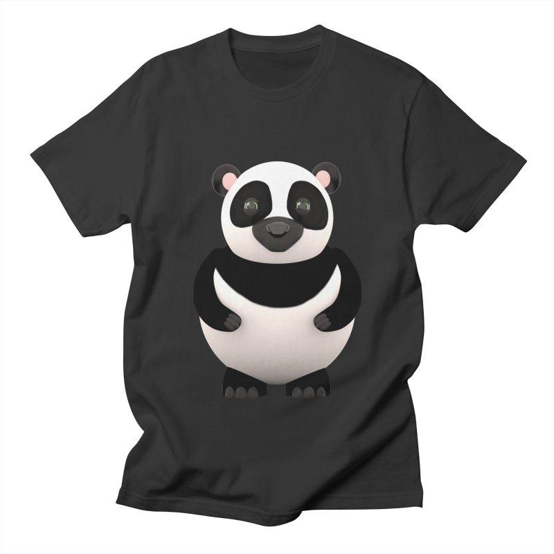 Cartoon Panda Men's Regular T-Shirt by Me&My3D