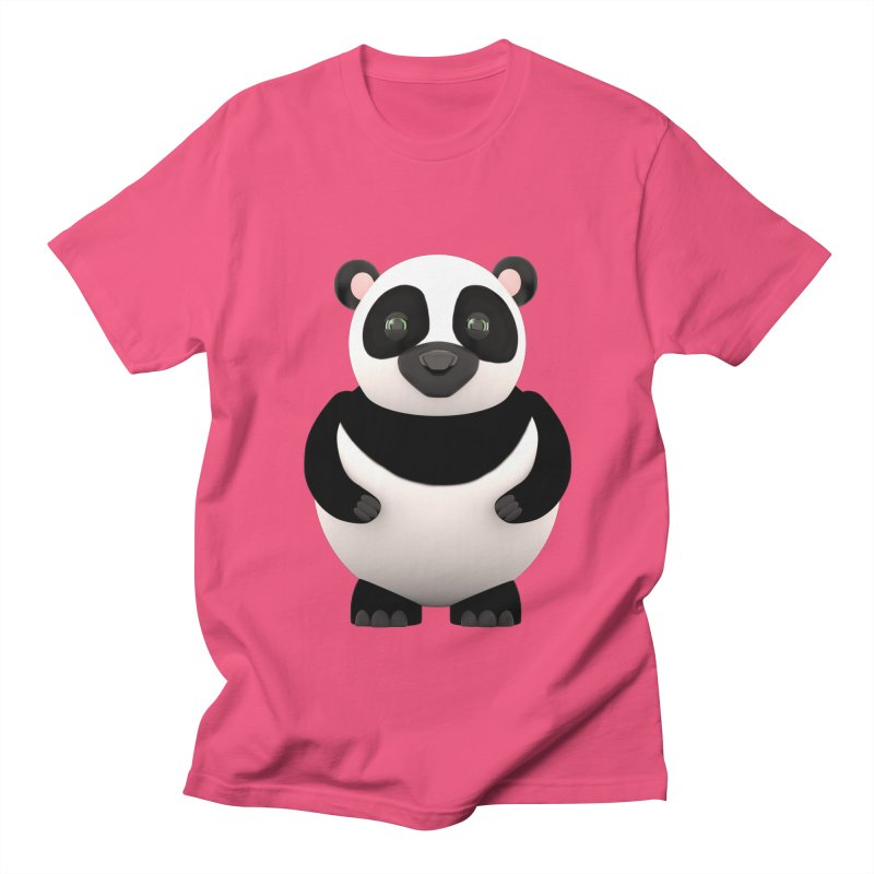 Cartoon Panda Women's Regular Unisex T-Shirt by Me&My3D