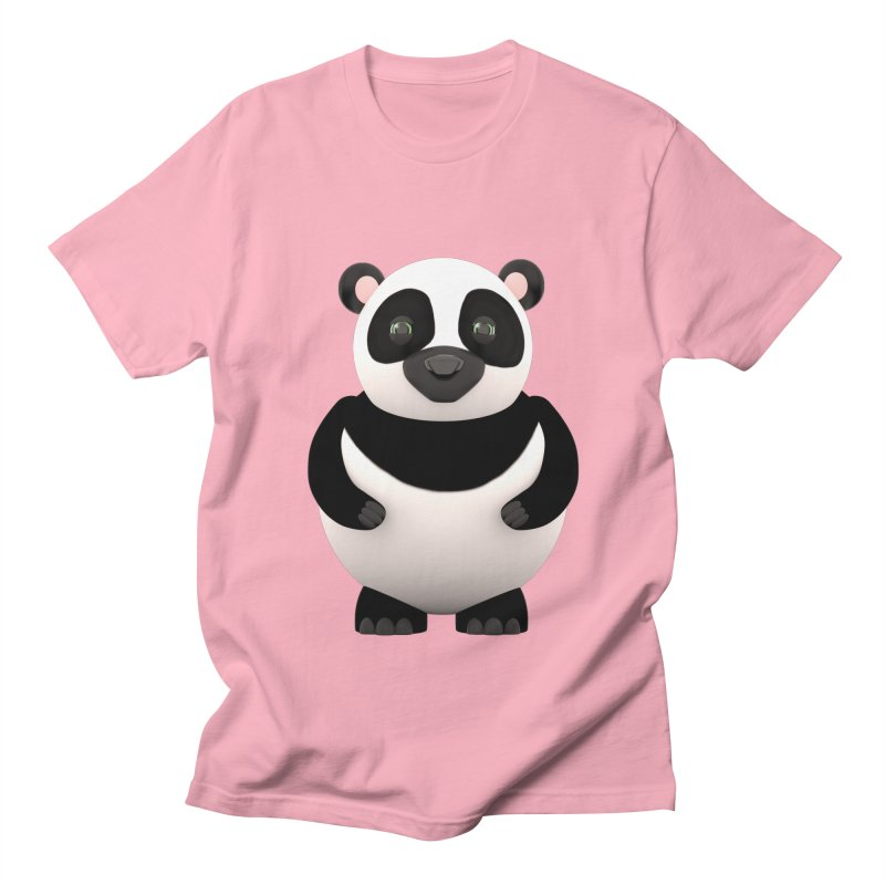 Cartoon Panda Men's T-shirt by Me&My3D