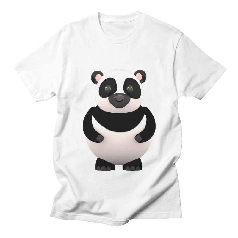 Cartoon Panda Men's Regular T-Shirt by Me&My3D