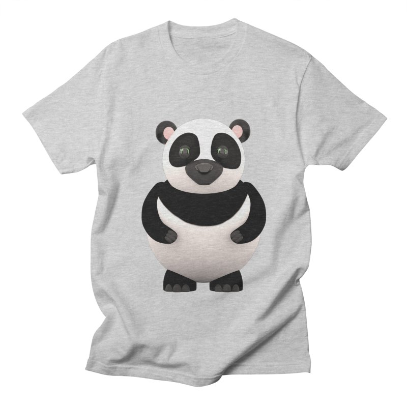Cartoon Panda Men's T-shirt by Me&My3D