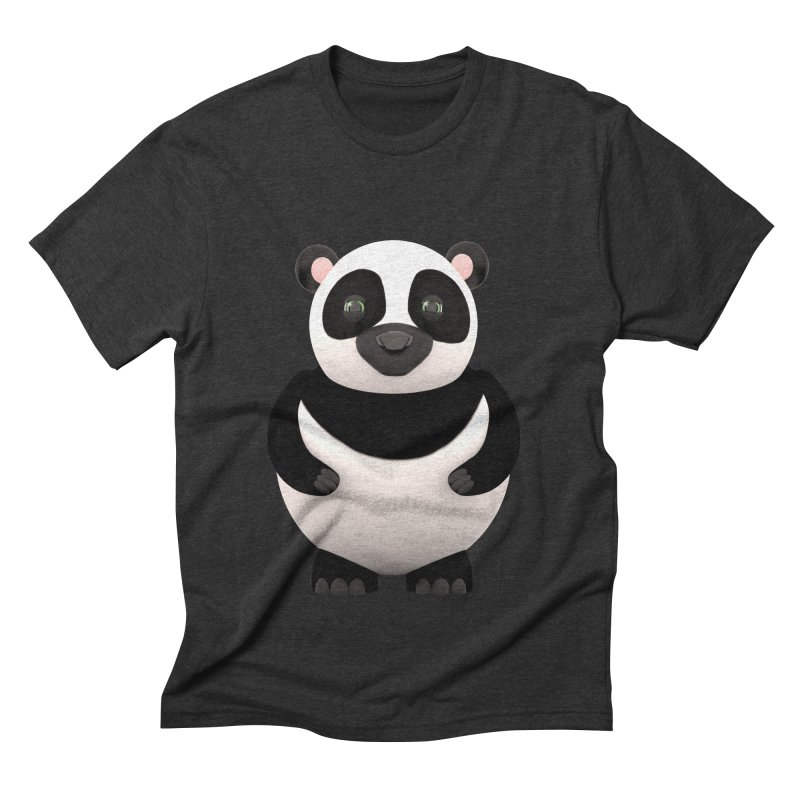 Cartoon Panda Men's Triblend T-Shirt by Me&My3D