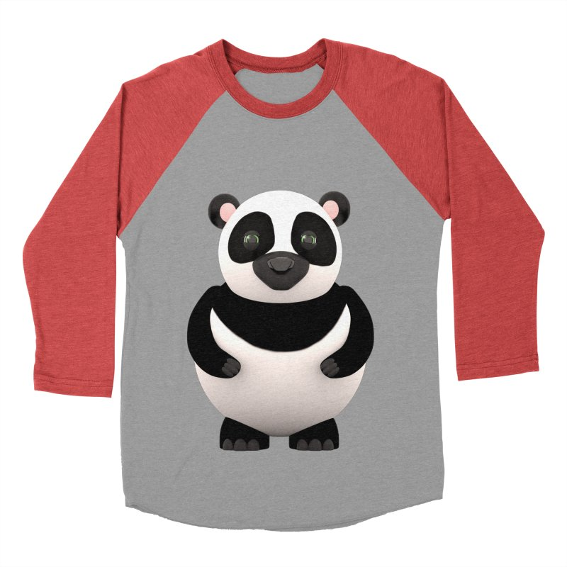 Cartoon Panda Women's Baseball Triblend Longsleeve T-Shirt by Me&My3D
