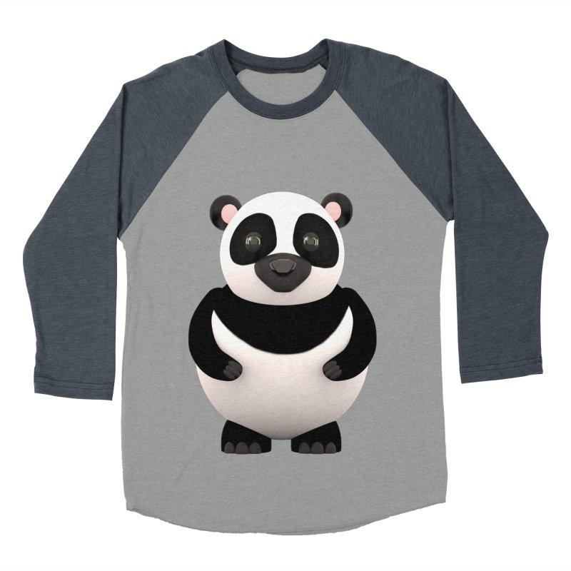 Cartoon Panda Women's Baseball Triblend T-Shirt by Me&My3D