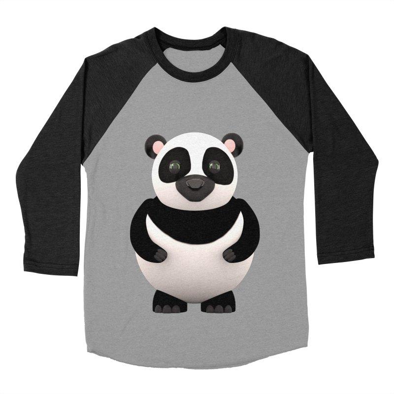 Cartoon Panda Men's Baseball Triblend T-Shirt by Me&My3D