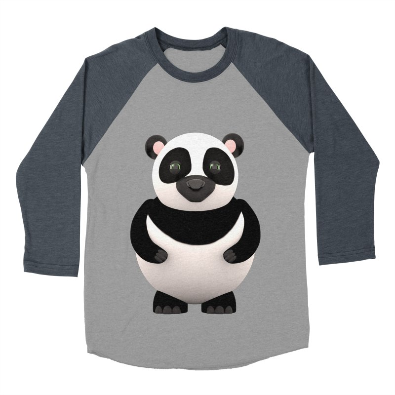 Cartoon Panda Men's Baseball Triblend T-Shirt by Me&My3D