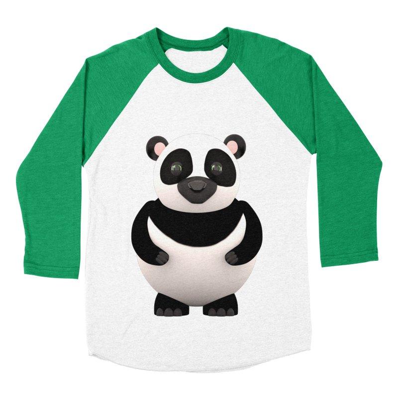 Cartoon Panda Men's Baseball Triblend Longsleeve T-Shirt by Me&My3D
