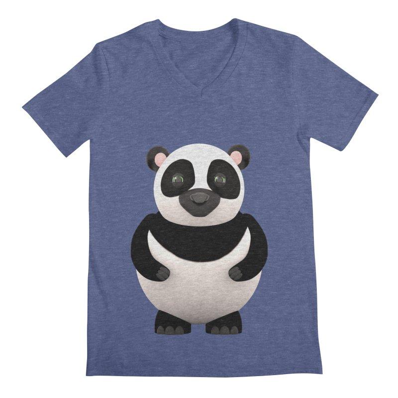 Cartoon Panda Men's Regular V-Neck by Me&My3D