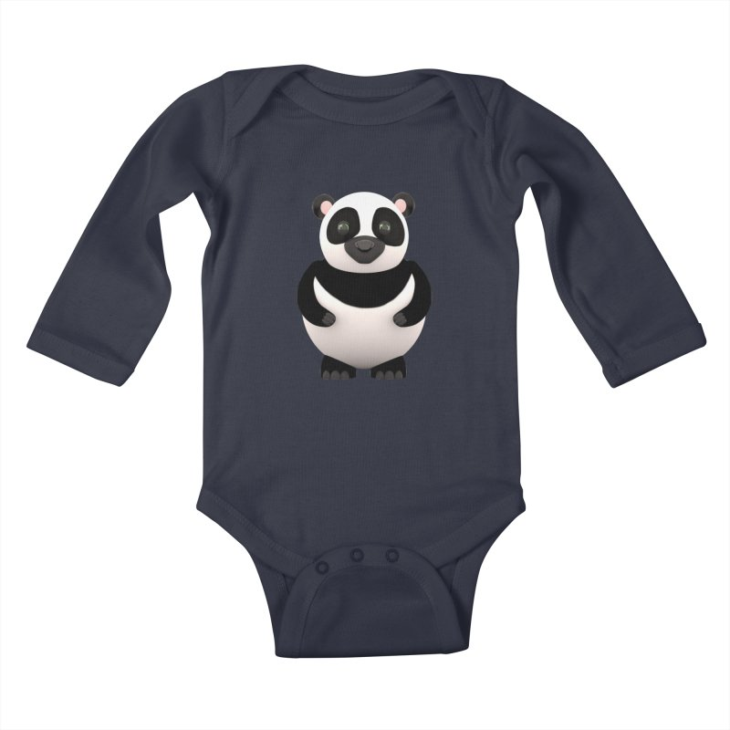 Cartoon Panda Kids Baby Longsleeve Bodysuit by Me&My3D