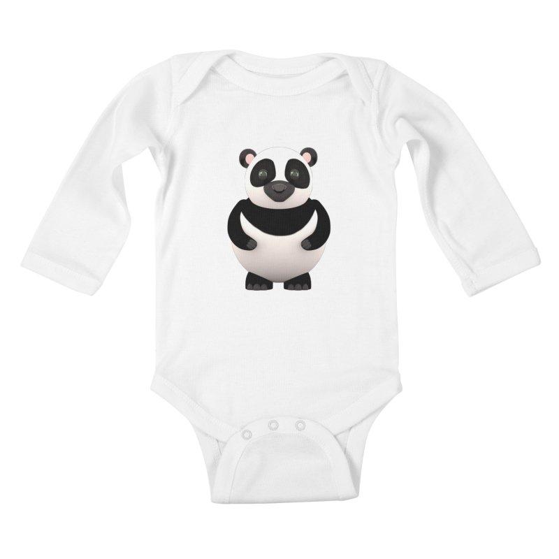 Cartoon Panda Kids Baby Longsleeve Bodysuit by Me&My3D