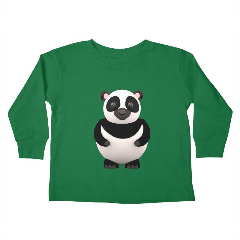Cartoon Panda Kids Toddler Longsleeve T-Shirt by Me&My3D