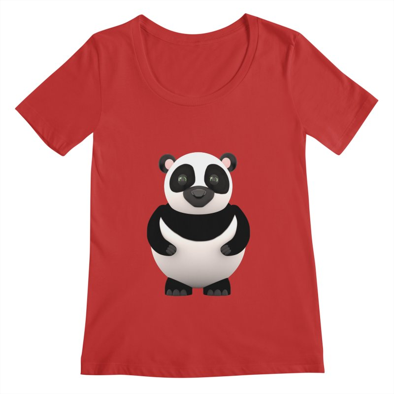 Cartoon Panda Women's Scoopneck by Me&My3D