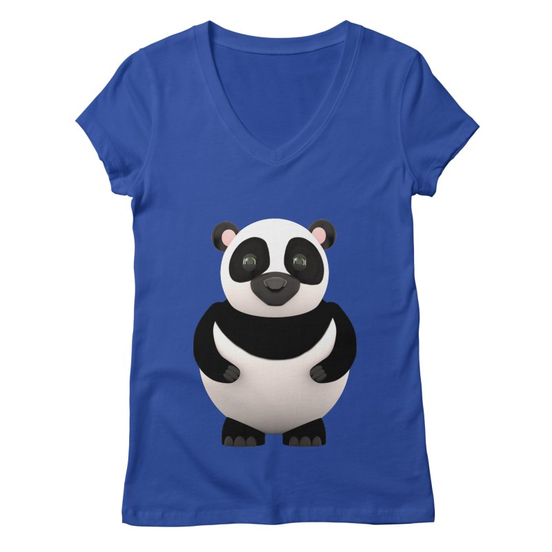 Cartoon Panda Women's V-Neck by Me&My3D