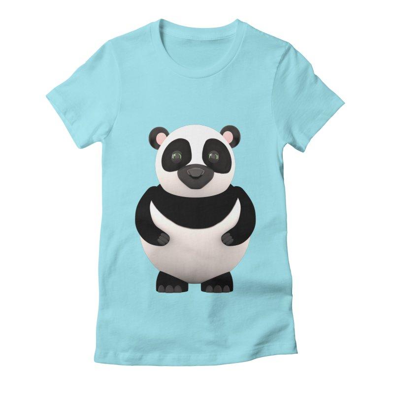 Cartoon Panda Women's Fitted T-Shirt by Me&My3D