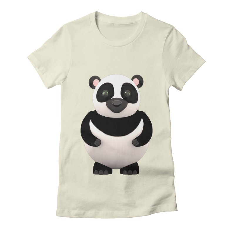 Cartoon Panda Women's Fitted T-Shirt by Me&My3D