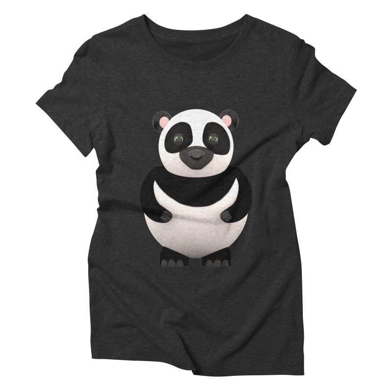 Cartoon Panda Women's Triblend T-Shirt by Me&My3D