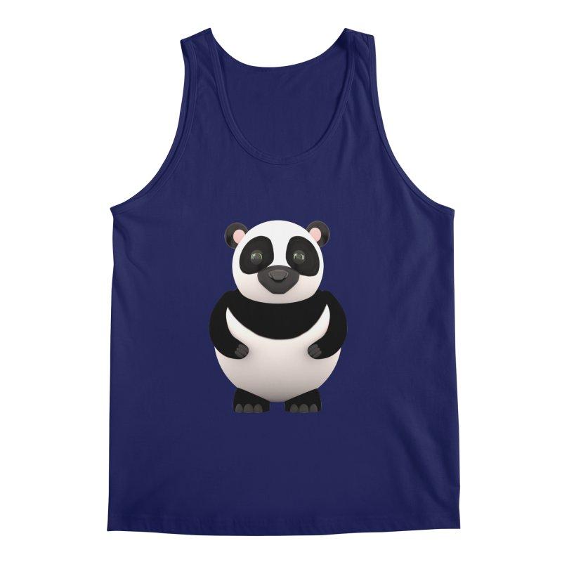 Cartoon Panda Men's Regular Tank by Me&My3D