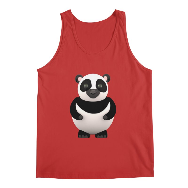 Cartoon Panda Men's Regular Tank by Me&My3D