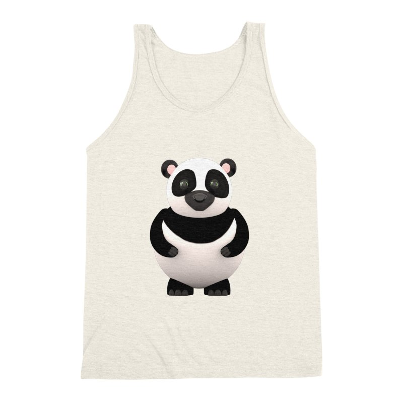 Cartoon Panda Men's Triblend Tank by Me&My3D