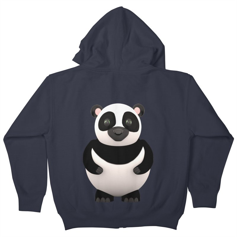 Cartoon Panda Kids Zip-Up Hoody by Me&My3D