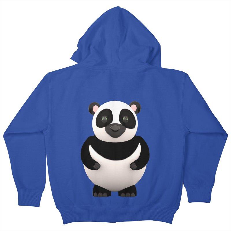 Cartoon Panda Kids Zip-Up Hoody by Me&My3D