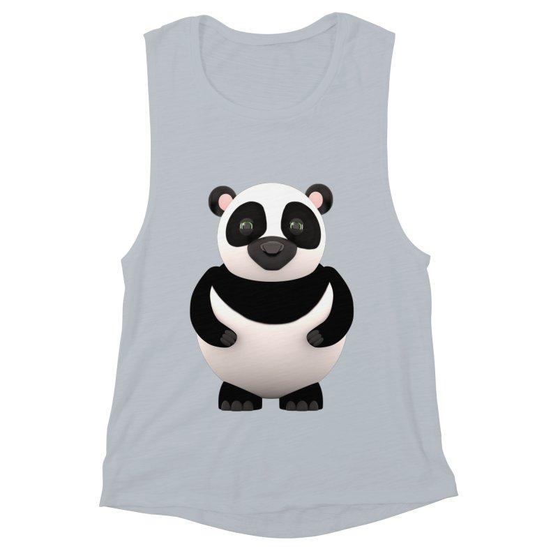 Cartoon Panda Women's Muscle Tank by Me&My3D
