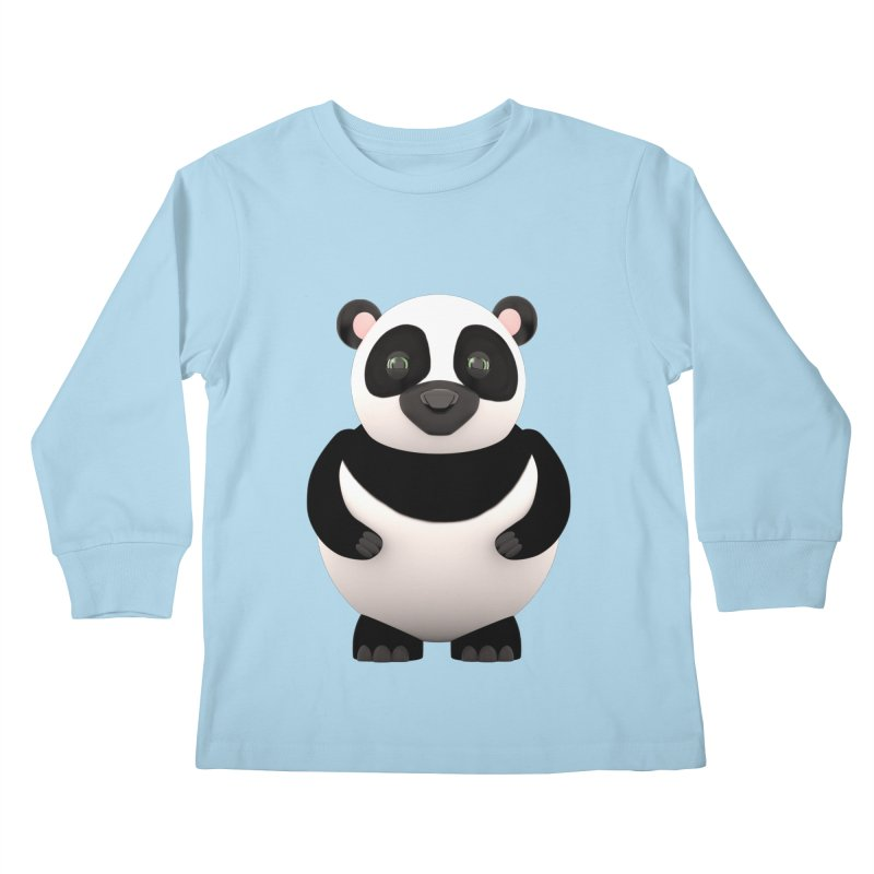 Cartoon Panda Kids Longsleeve T-Shirt by Me&My3D