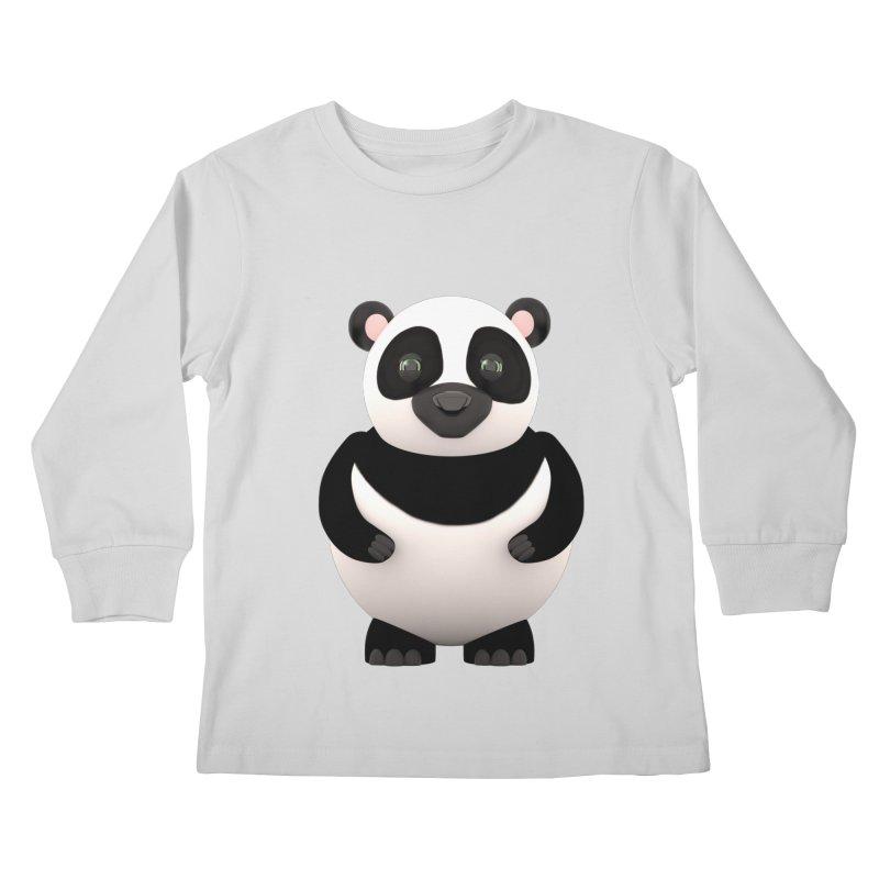 Cartoon Panda Kids Longsleeve T-Shirt by Me&My3D