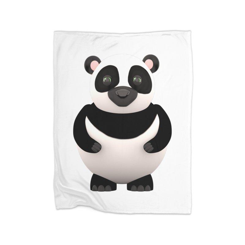 Cartoon Panda Home Fleece Blanket Blanket by Me&My3D