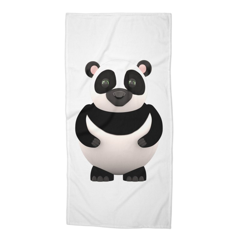 Cartoon Panda Accessories Beach Towel by Me&My3D