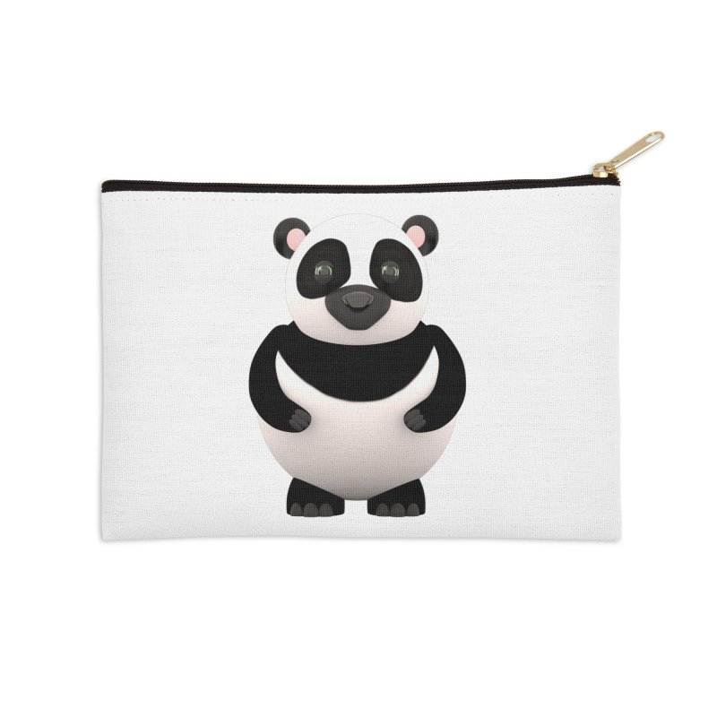 Cartoon Panda Accessories Zip Pouch by Me&My3D