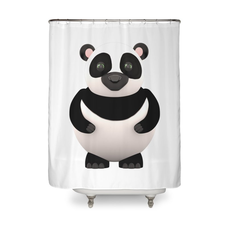Cartoon Panda Home Shower Curtain by Me&My3D