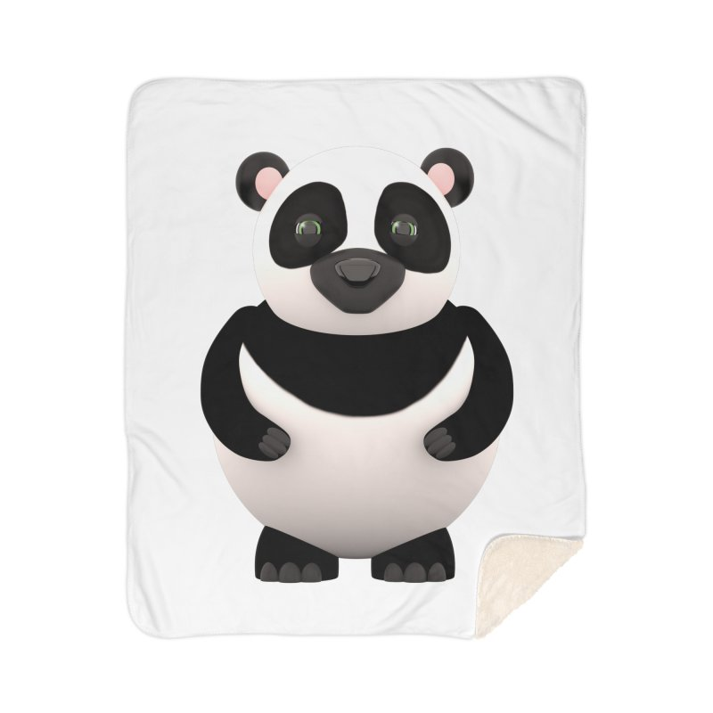 Cartoon Panda Home Sherpa Blanket Blanket by Me&My3D