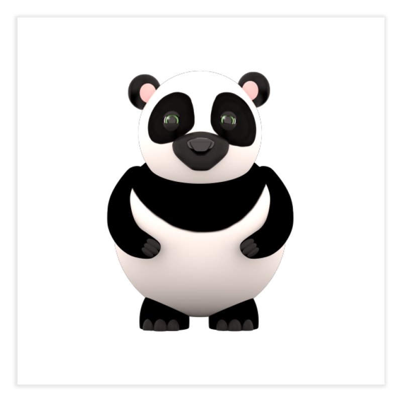 Cartoon Panda Home Fine Art Print by Me&My3D