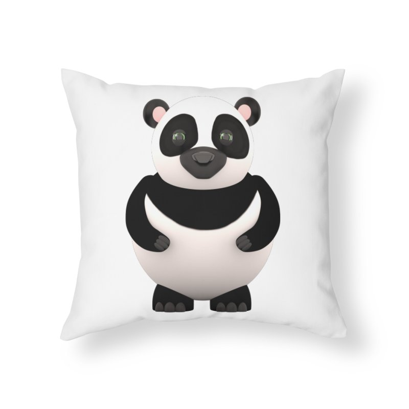 Cartoon Panda Home Throw Pillow by Me&My3D